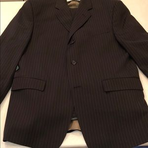 Calvin Klein men's suit in dark chocolate